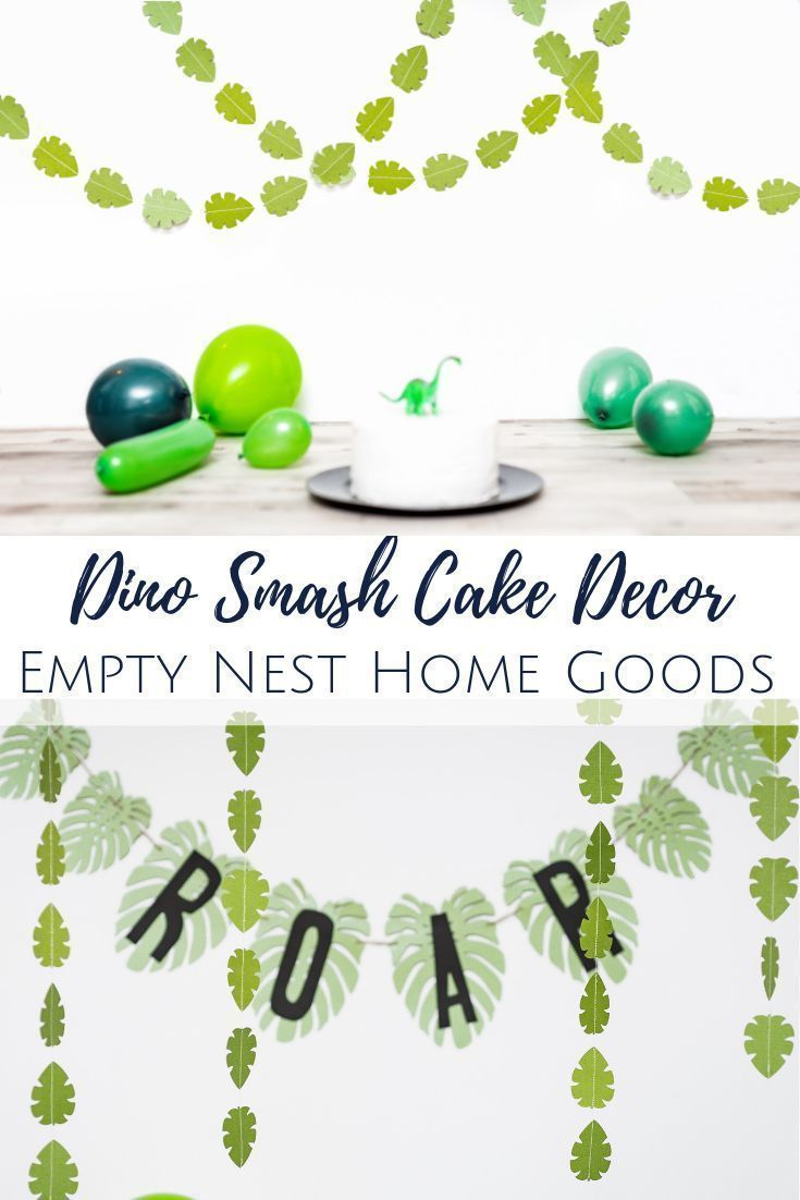 Jungle Leaf Garland, Green Leaf Garland, Dino Party Decor, Safari Party Decor, Safari Animal Party, Wild One Leaf Garland, Green Leaf Decor #leafgarland Jungle leaf garlands, dinosaur party ideas, jungle party ideas, green leaf garland, dinosaur smash cake session // Empty Nest Home Goods // click through for more great smash cake ideas and decor! #leafgarland Jungle Leaf Garland, Green Leaf Garland, Dino Party Decor, Safari Party Decor, Safari Animal Party, Wild One Leaf Garland, Green Leaf Dec #leafgarland