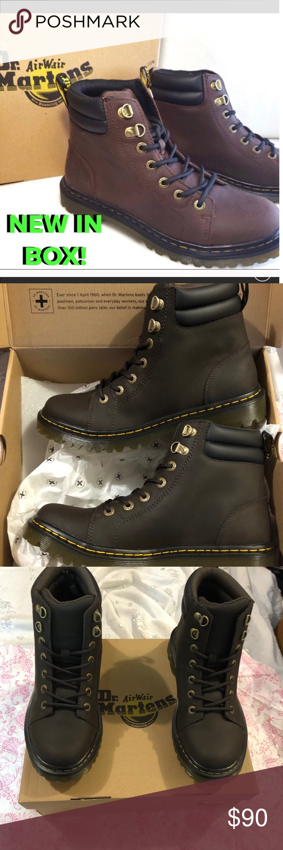 c6246de68bd2 DR MARTENS FAORA BOOTS NEW WITH ALL TAGS   IN ORIGINAL BOX! Dr. Martens  Shoes Lace Up Boots