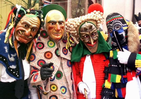Carnival Fastnacht In Rottweil Baden Wurttemberg Germany Venedig