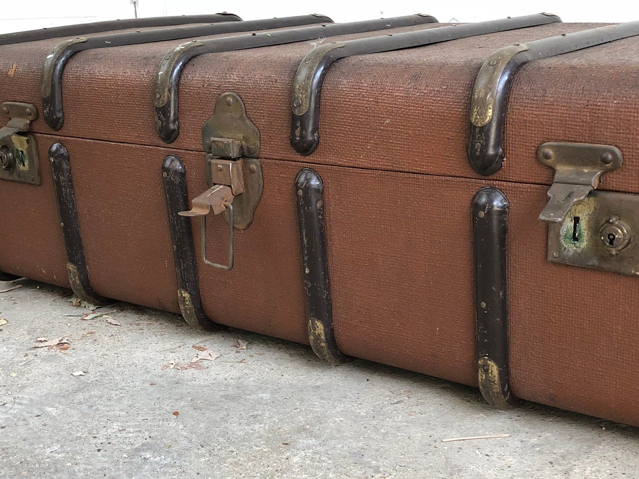 Vintage Steamer Trunk Coffee Table Storage Vintage Steamer Trunk