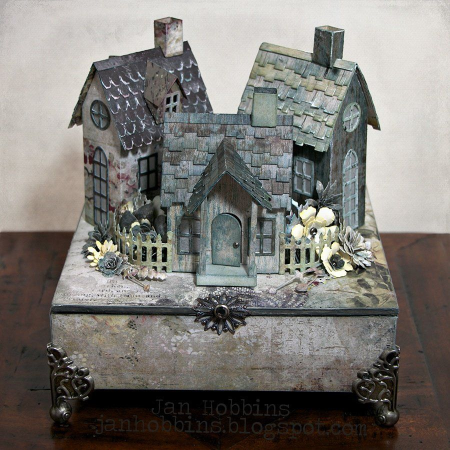 Village Dwellings - Scrapbook Little houses Pinterest - halloween houses decorated