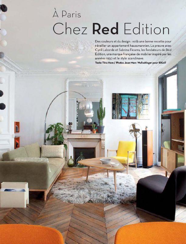 Chez red édition lhaussmannien en mode rétro paris apartmentssmall