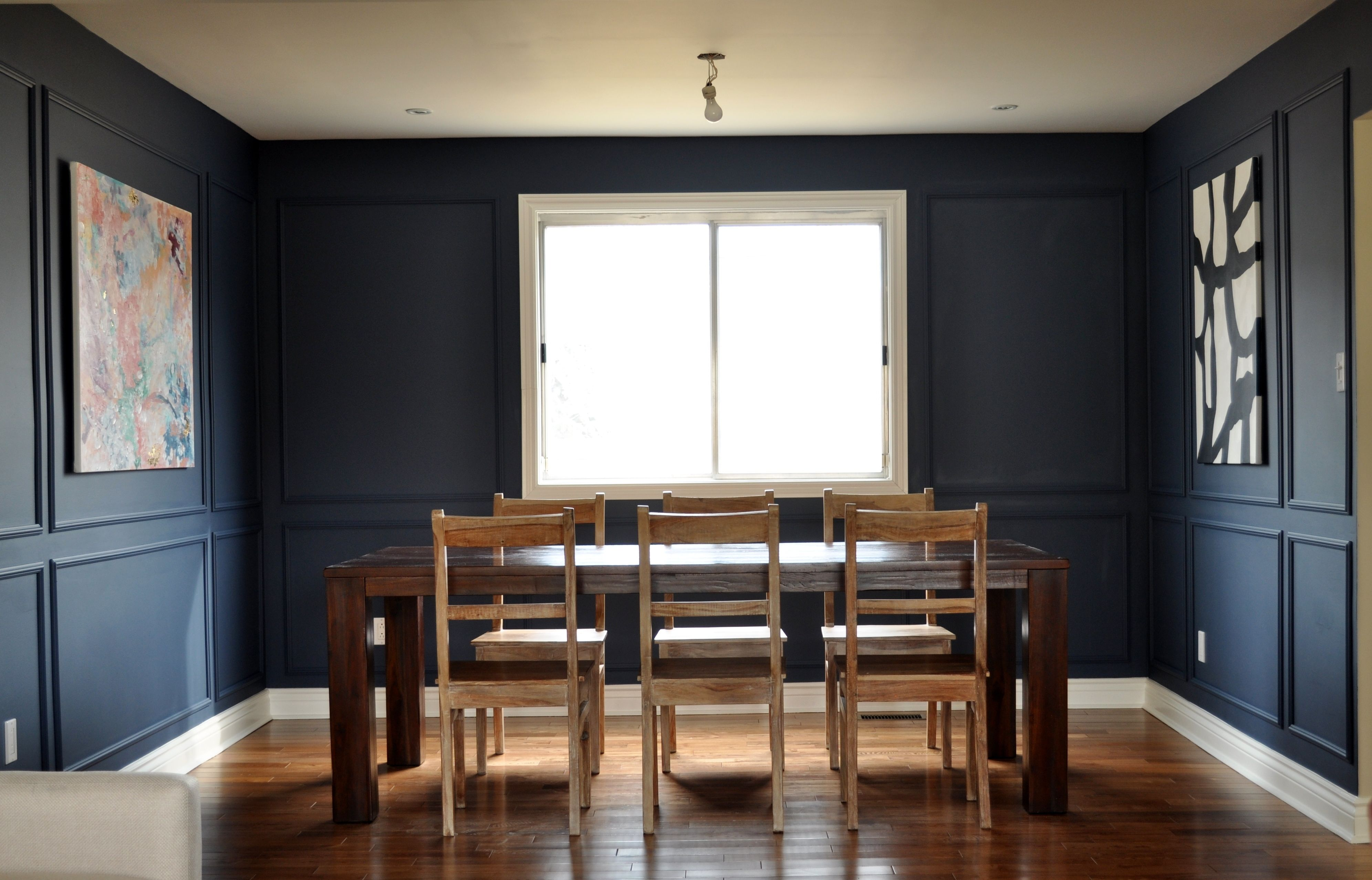 Wainscoting modern dining room - A Trendy Trim Transformation