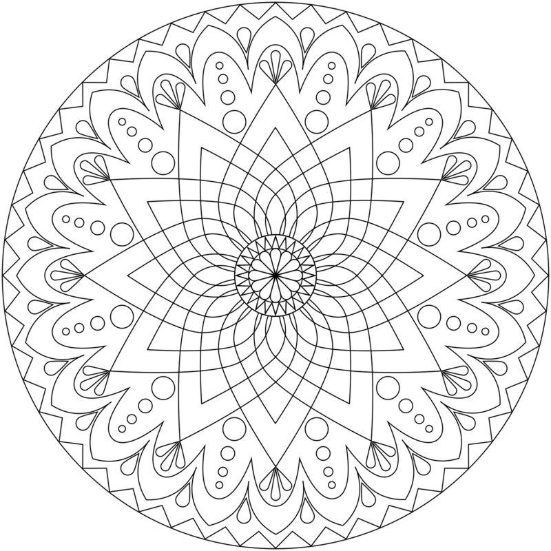50 Mandala Vorlagen - Stress abbauen - DIY | Mandala, Adult coloring ...
