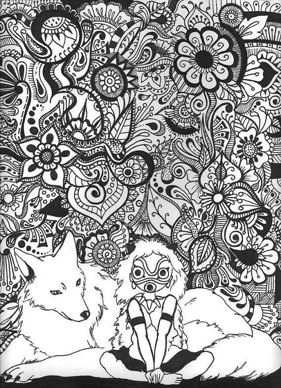 Studio Ghibli Coloring Book Unique 34 Best Coloring Pages Images On Pinterest Cat Coloring Book Studio Ghibli Art Miyazaki Art