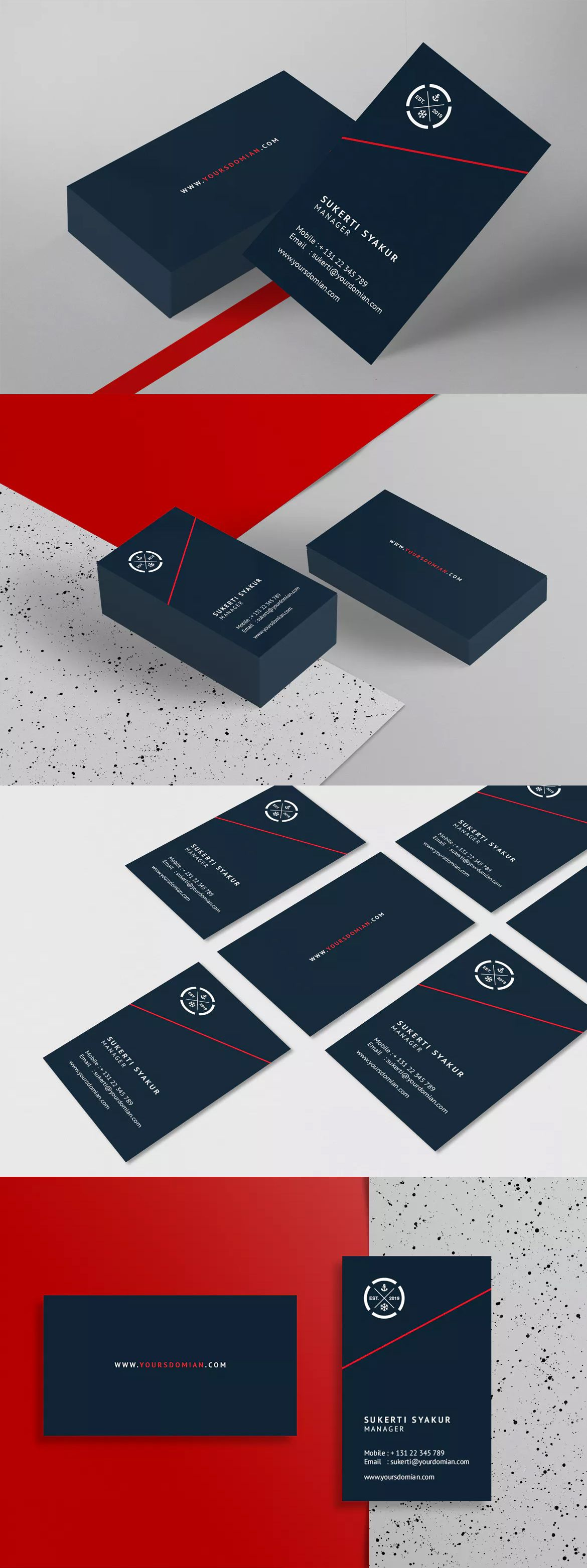 Business Card Template InDesign INDD #unlimiteddownloads | Ideas ...