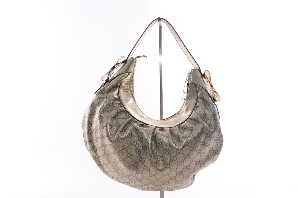 c2b2ded783b Authentic Gucci Gold Guccissima Leather Queen Hobo Bag