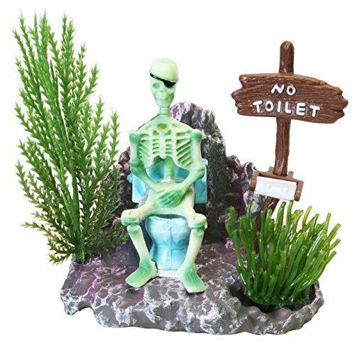 Action-Aquarium Ornament Skeleton Pirate Captain Landscape Fish Tank Decoration