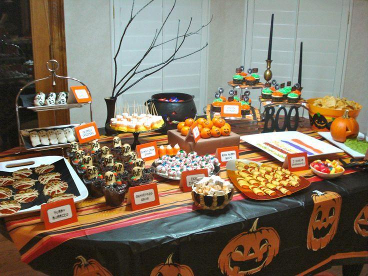 Halloween Party Food Table Halloween Pinterest Birthday Halloween Party Halloween Food For Party Halloween Party Table
