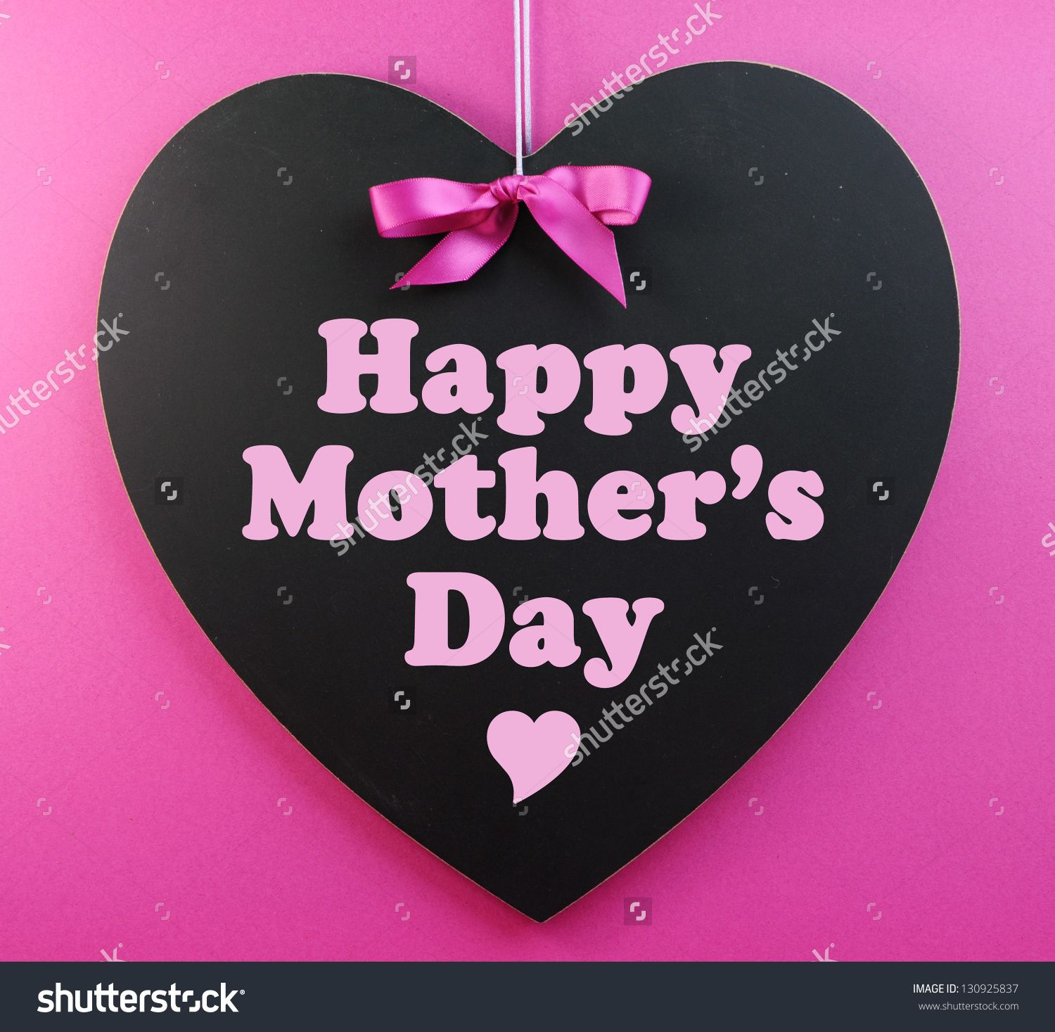 Stock photo heart shape blackboard with pink ribbon on pink explore mother day message mother day wishes and more m4hsunfo