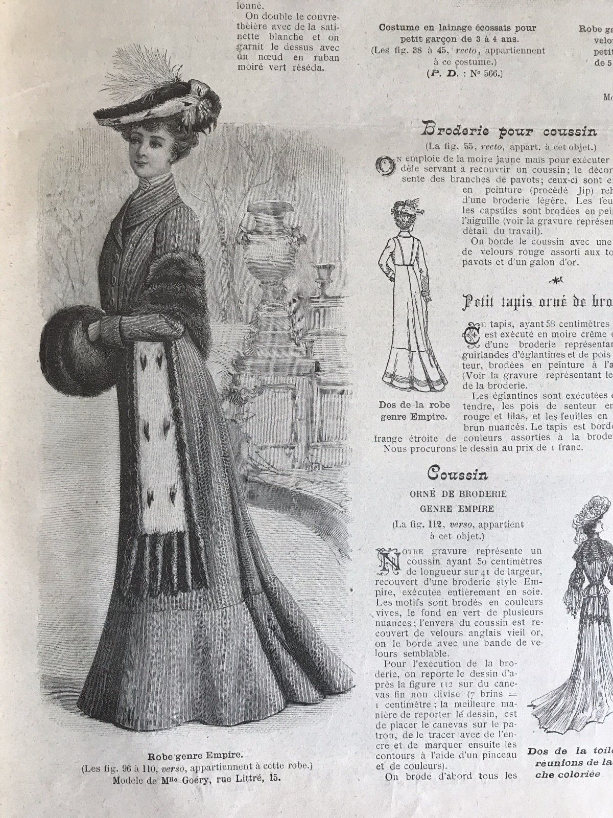 French MODE ILLUSTREE SEWING PATTERN December 21 ,1902 -2 BALL GOWNS ...