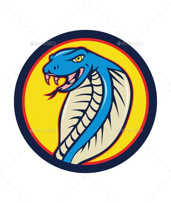 cobra viper snake head attacking circle cartoon font logo fonts rh pinterest com cobra logistics job cobra logo shirts