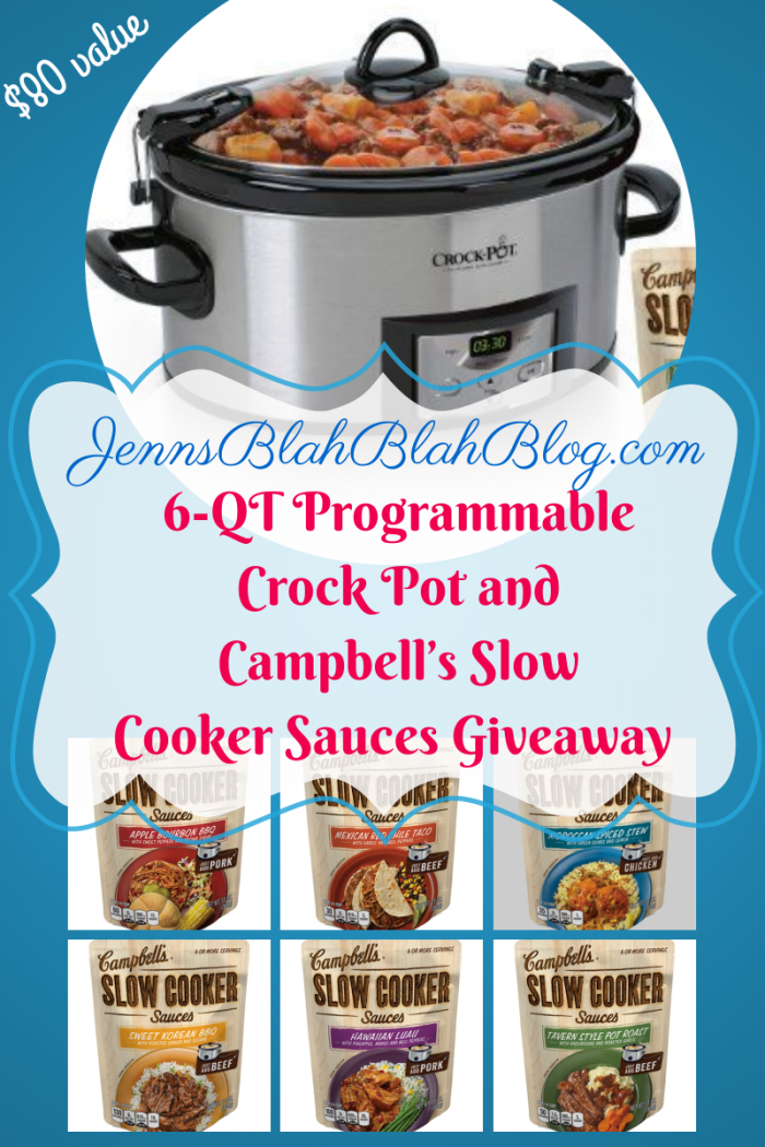 Giveaway: Enter To #Win Crock Pot & Campbell\'s Slow Cooker Sauces ...