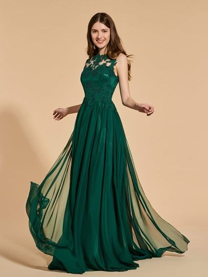 A-Line Button Lace Scoop Prom Dress & fairytale Prom Dresses   Prom ...