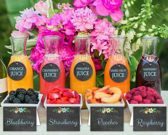 MIMOSA BAR Sign Flowers Blue Chalk Tags & Tents Signs Printables Floral Baby Showers Bridal Party Labels Fruit INSTANT Download WCMM003