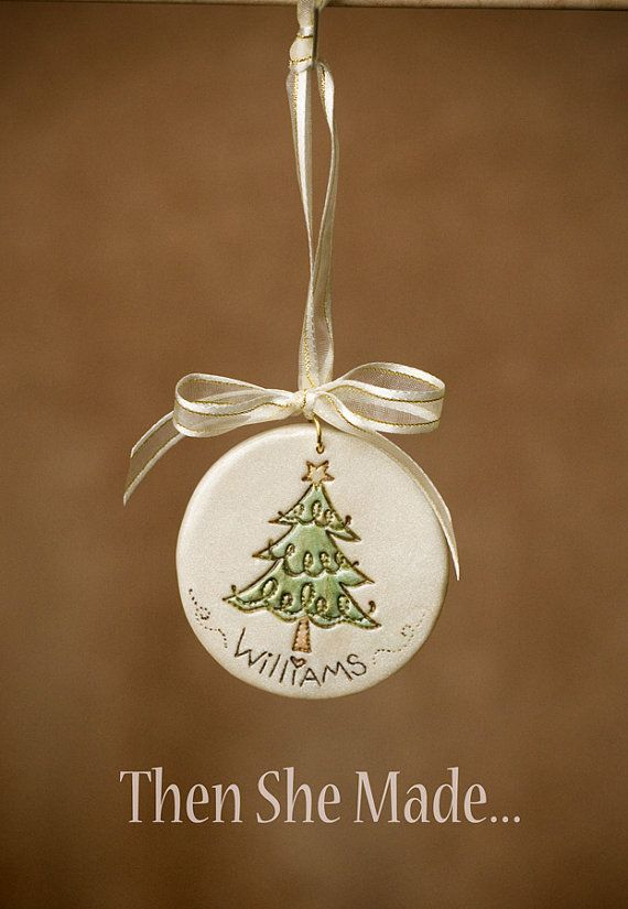 Personalized Christmas Tree Ornament by Thenshemade on Etsy, $7.50 christmas 2013?