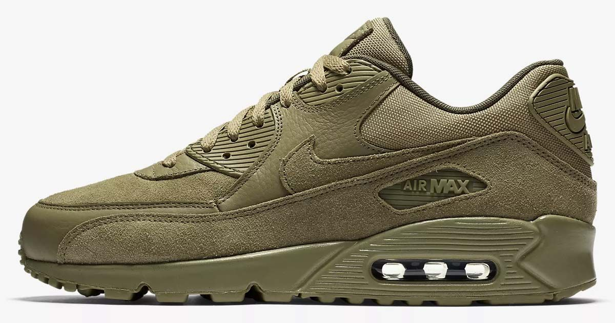quality design c6838 f9e04 Get These Olive Nike Air Max 90 Premium For Just 100 Shipped While  Supplies Last!