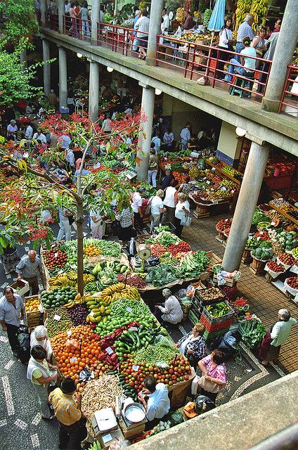 One of the best things about city life, a place like this. Madeira, Portugal - Funchal Market Hall, via Flickr.