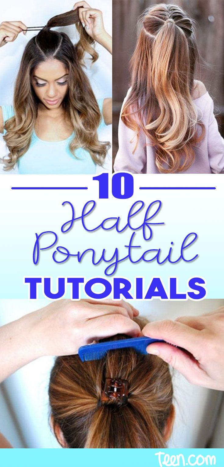 High Half Up Half Down Ponytail Hacks Pony Tutorials Amazing Hair