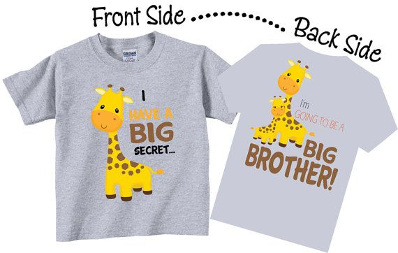 Going to be a Big BROTHER BOYS T-Shirt ANIMALS Kids New Baby Announcement Gift