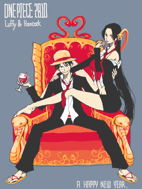 Hancock x luffy trop mignooons cute anime - One piece luffy x hancock ...