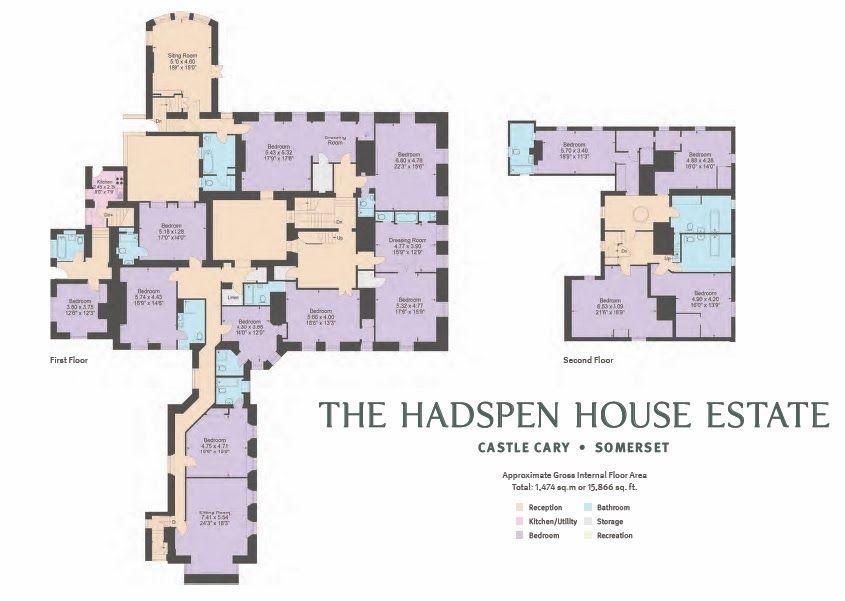 Hadspen House, Pitcombe, Somerset | Floor plans, Reception ...