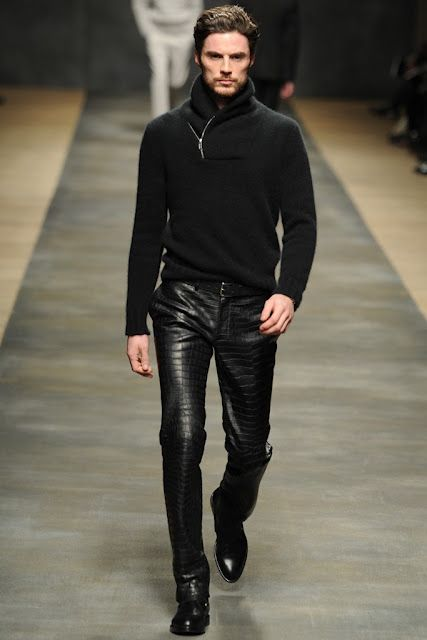 Hermes Men's RTW 2012 Fall | Mens outfits, Mens fashion edgy, Mens leather  pants
