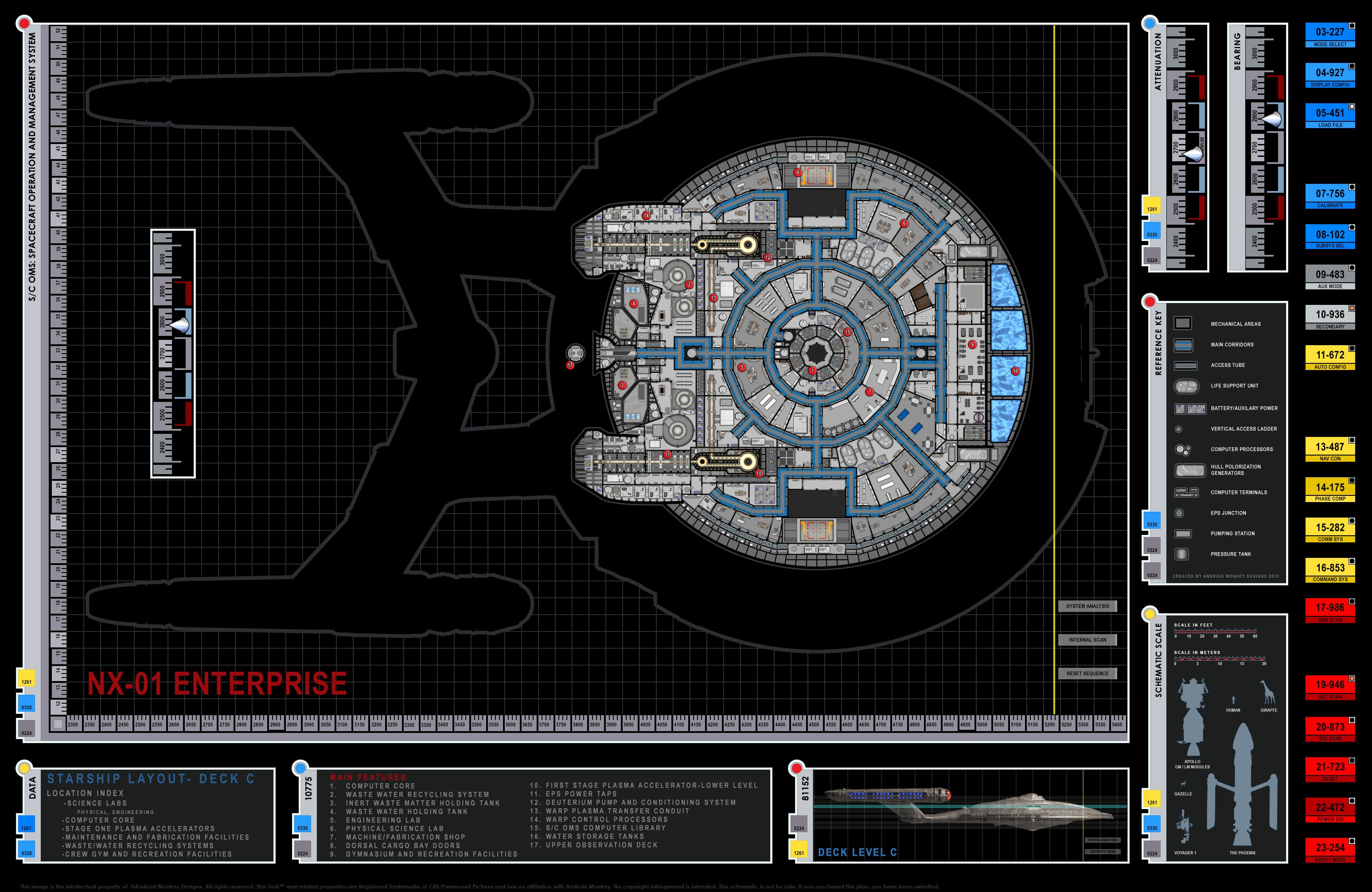 Blueprint Database Star Trek Blueprints Enterprise NX 01 Deck Plans ...
