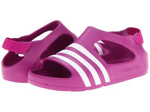 3ab926a81f4d adidas Originals Kids Adilette Play (Infant Toddler) Vivid Pink White -  6pm.com