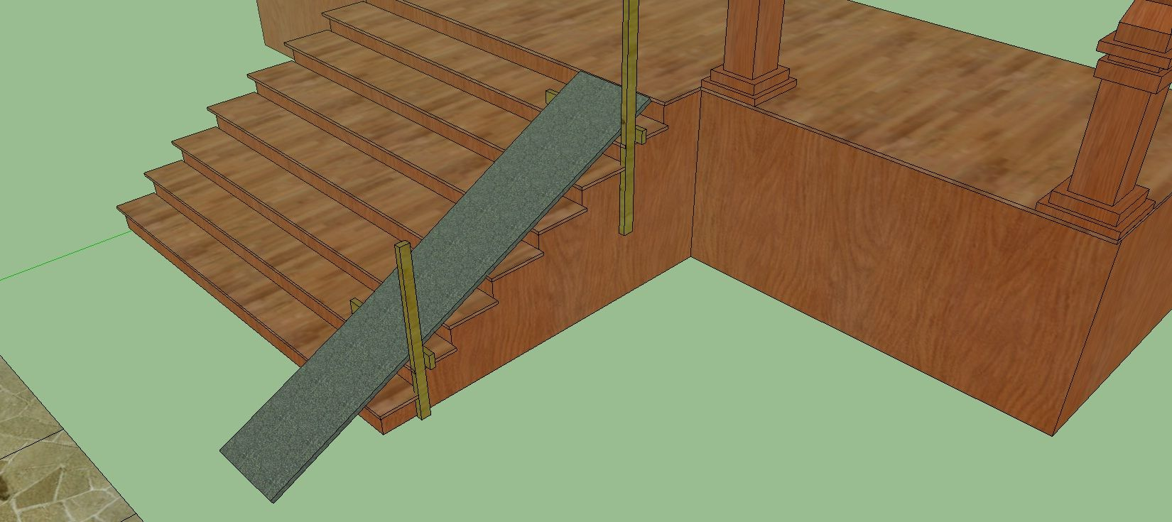Building Ramp Over Stairs Got Questions Get Answers