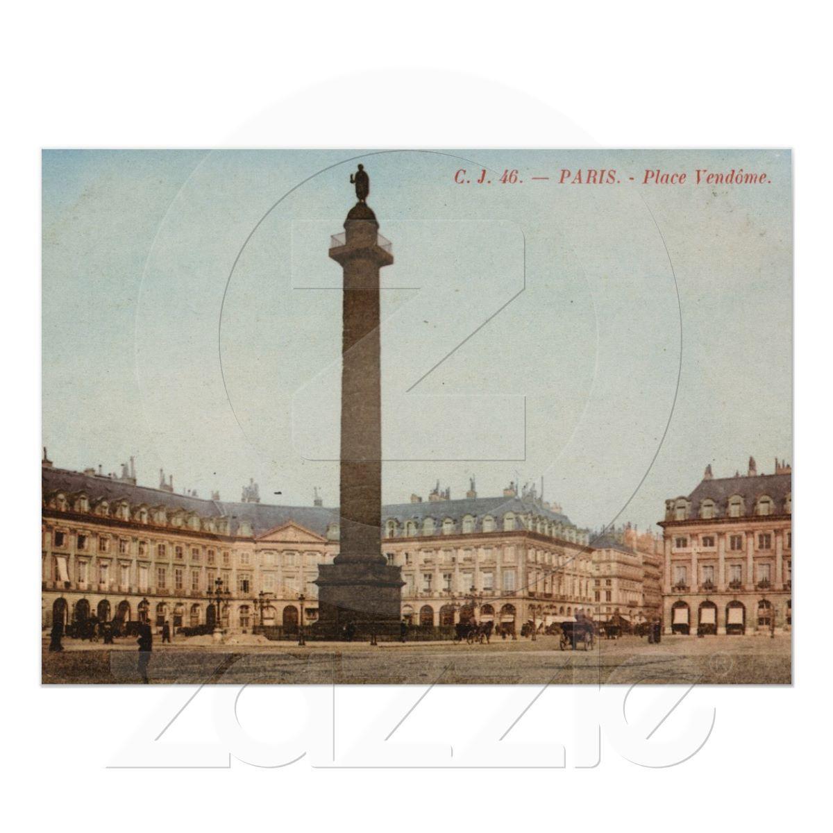 Place Vendôme, Paris, France Vintage Poster from Zazzle.com