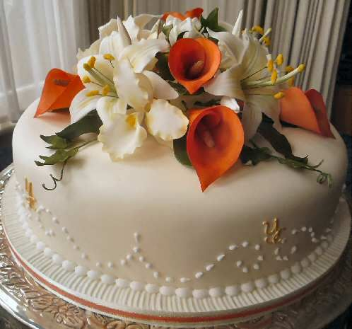 pictures of single layer wedding cakes like the flowers on top single tier wedding cake 18435