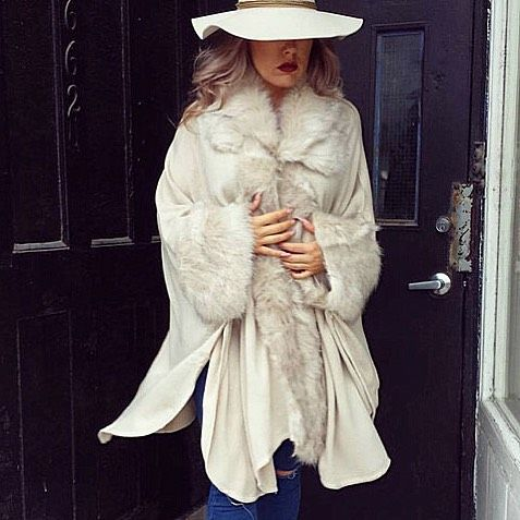 """""""LEANNE"""" faux fur wrap $145 (one size - available in black and mocha)  http://ift.tt/1k8MHGM  #style #fashion #fauxfur #luxe"""