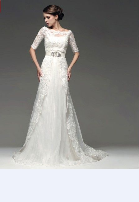 Shoulder Liques Belt Lace Fishtail Train Wedding Dress Http Www Clothing