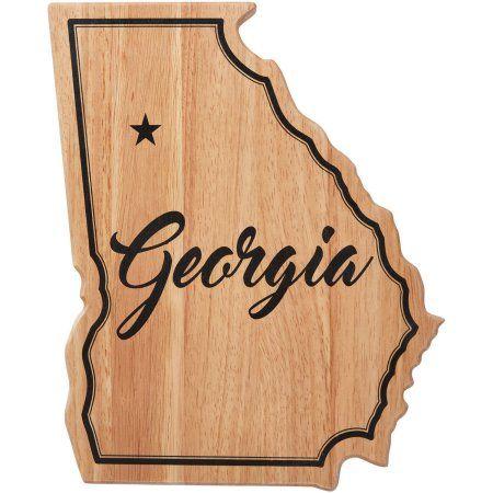 Farberware Georgia State Shaped Wood Cutting Board, Brown