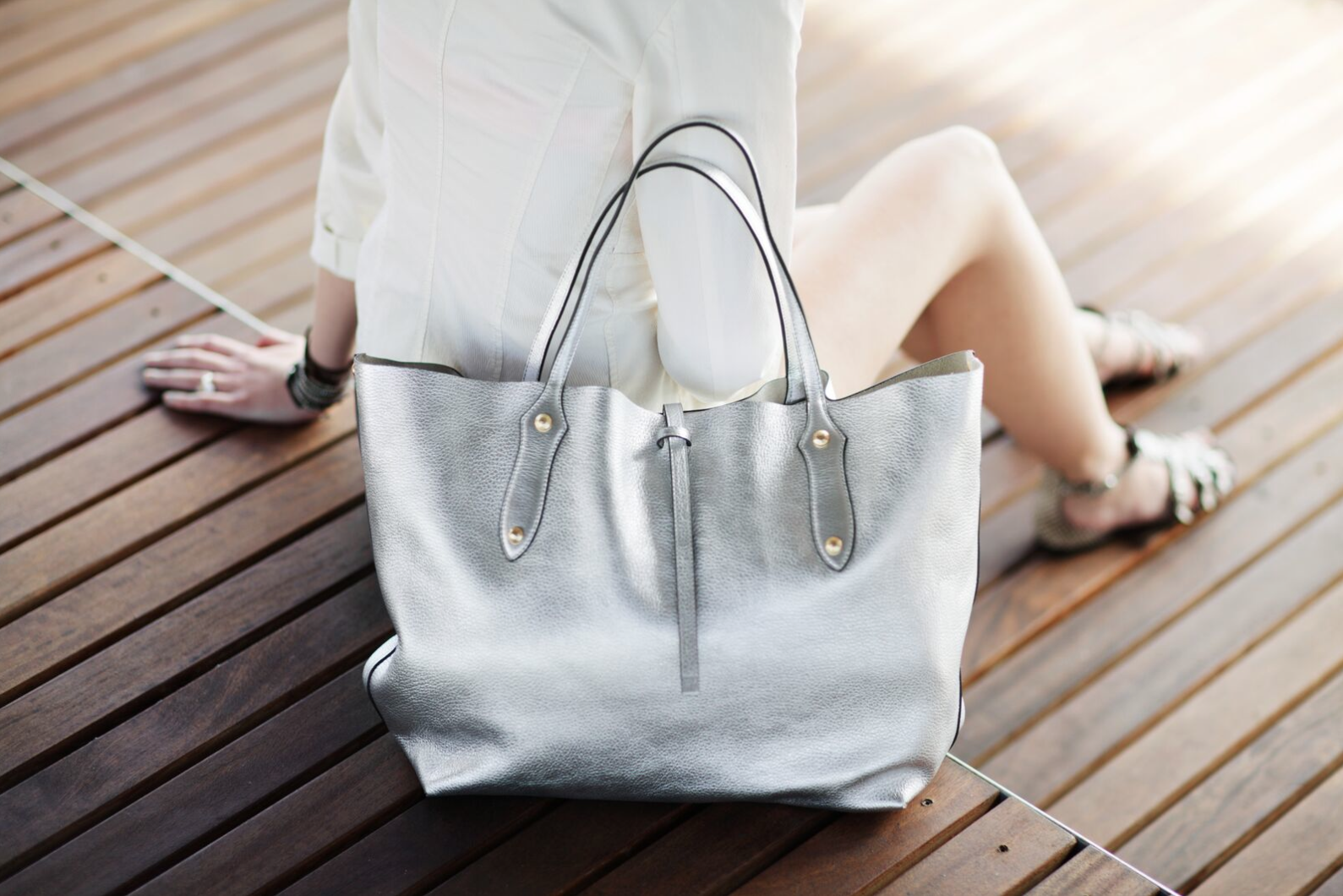 4267c2ce4e91 Annabel Ingall Australia • Large Isabella Tote in Silver