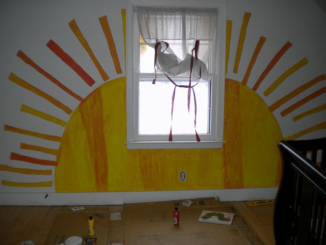 Eric Carle Room Sun. Logan is obsessed with Eric Carle, great idea for his room