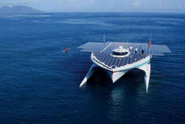 PlanetSolar completes first solar-powered boat trip around the globe