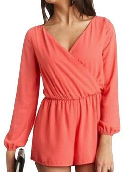 93cbb7b8925 ... Up to off a Tradesy. Charlotte Russe Hot Coral Romper Jumpsuit  29