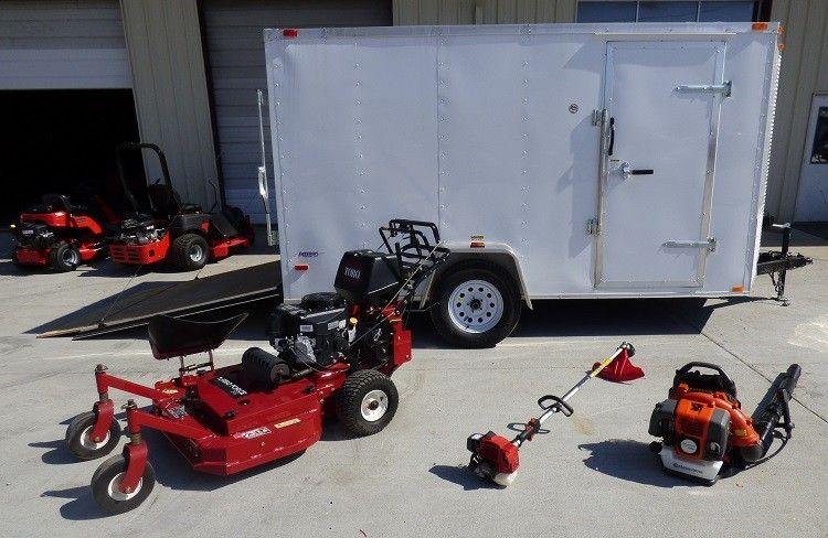 Toro 30674 Walk Behind Lawn Mower Equipment Enclosed Trailer Package Deal 30674 Enclosed 6 286 00 Landscaping Equipment Enclosed Trailers Lawn Equipment