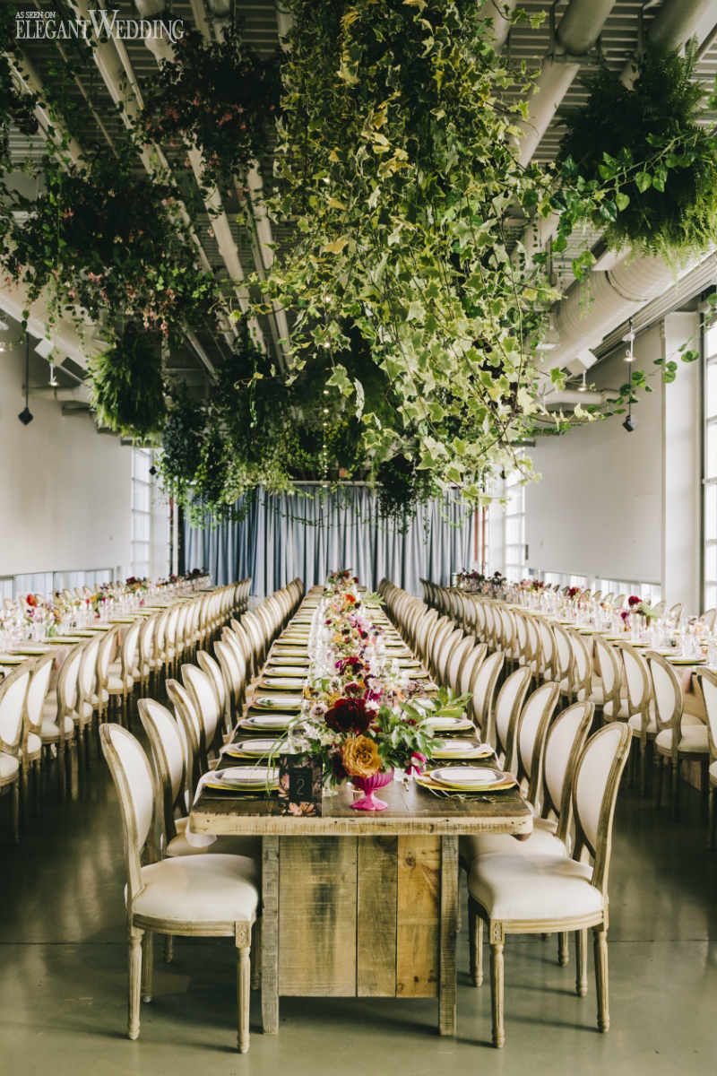 Garden wedding reception decor  Modern Garden Wedding Filled with Colour  Reception Bridal gowns