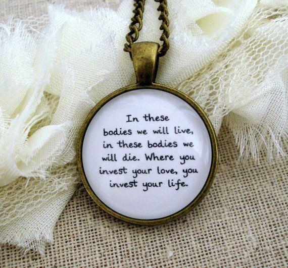 Mumford and Sons Awake My Soul Inspired Lyrical Quote Necklace I HAVE THIS NECKLACE OMG!
