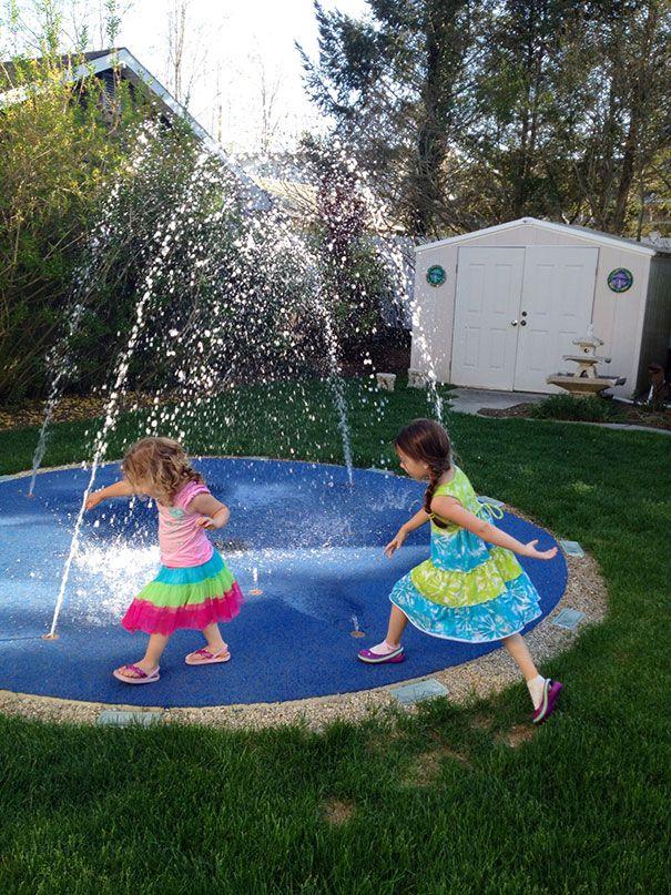 Pelham Manor, New York Splash Pad   Backyard splash pad ...