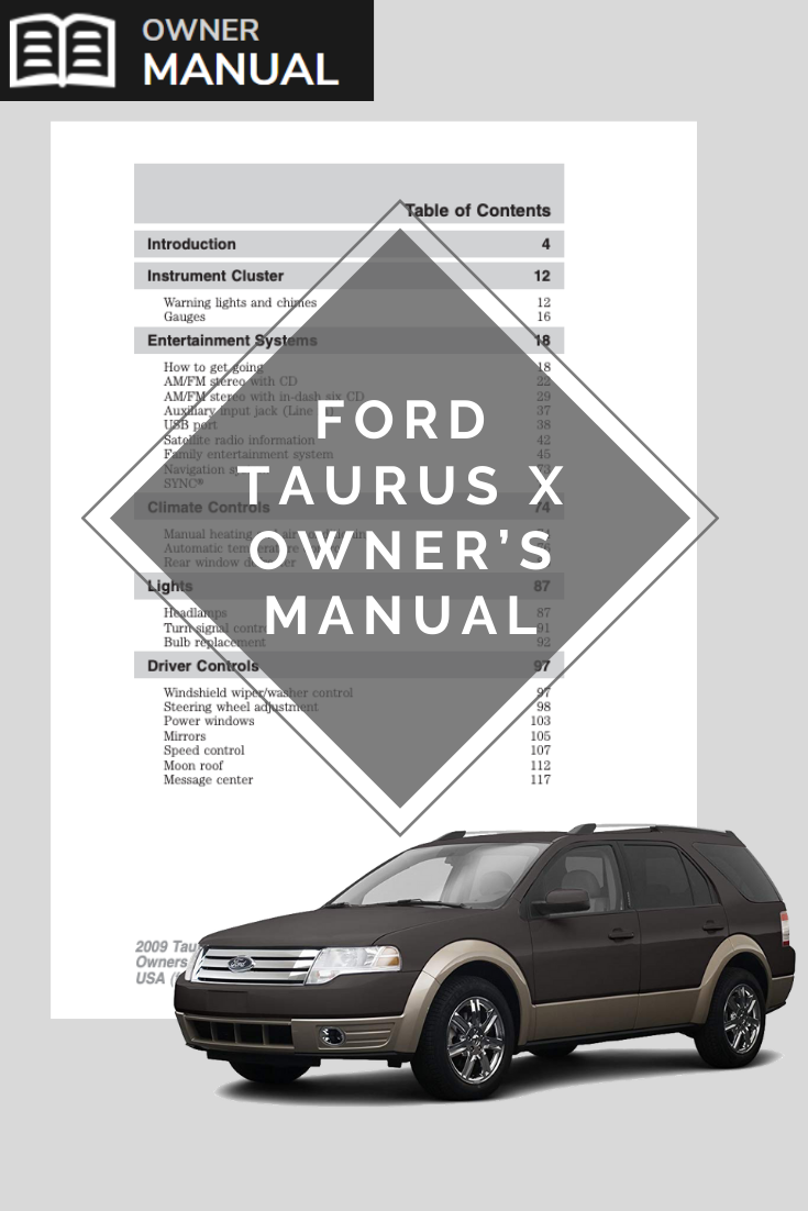 Ford Taurus X Owner S Manual Owners Manuals Manual Free Cars