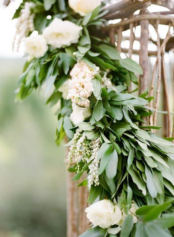 Bay Leaves Greenery Garland Large Box Fresh Greenery Bay Etsy Woodland Wedding Decorations Greenery Garland Wedding Table Garland