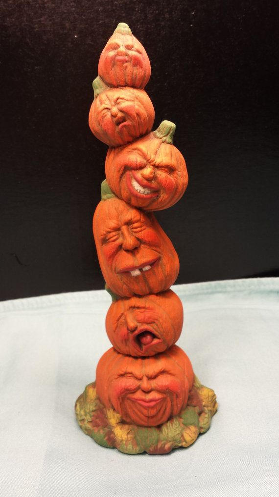 Pumpkin Statue by ExclusivelyYours8 on Etsy