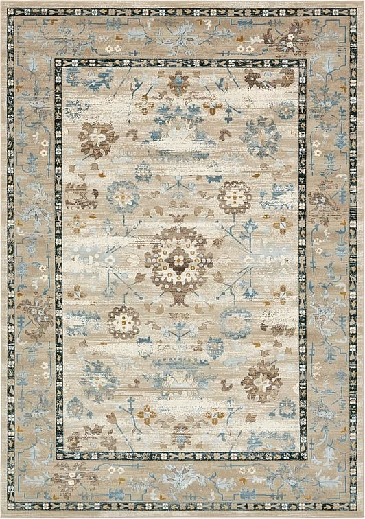 Beige Montreal Area Rug 8 X 11 299 Floral Area Rugs Area Rugs