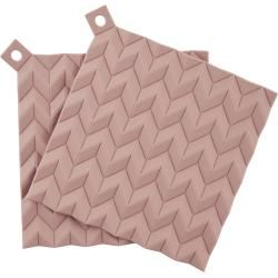 Photo of Hold-on pot holder set of 2 pink Stelton