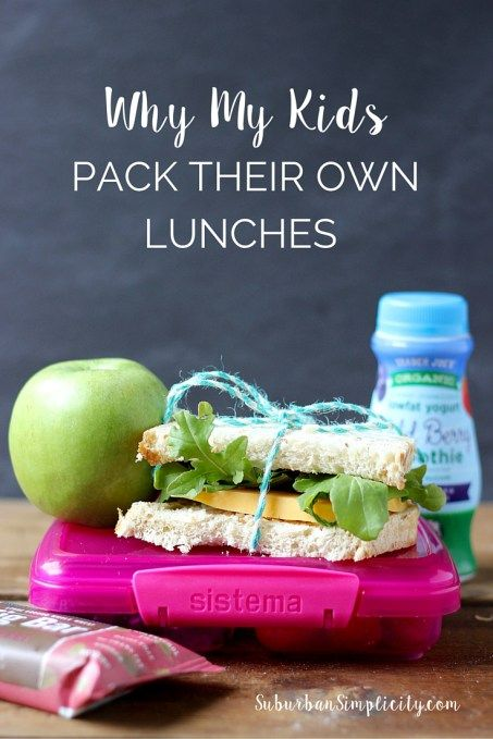 Learn Why My Kids Pack Their Own Lunches and what life skills it teaches them. Kids gain so much by giving them a little responsibility. | Parenting Idea