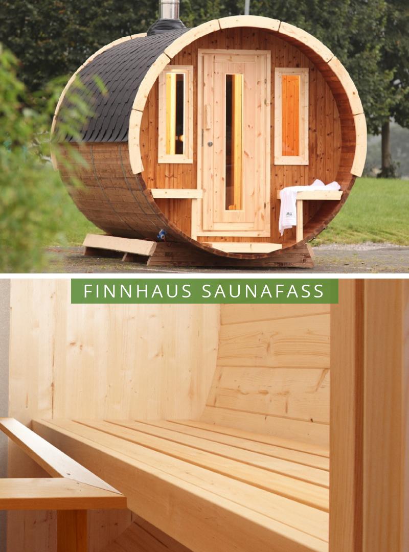 Wolff Finnhaus Saunafass 280 de luxe Thermoholz-montiert in 2019 ...